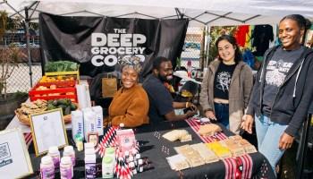 Jameelah Lane, Daniel Harris-Lucas, Yolanda Romo and Erin Higginbotham are worker owners of DEEP Grocery.