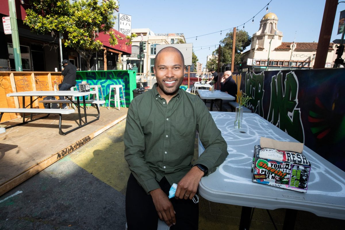 Warren Logan, a policy director in Mayor Libby Schaaf's office who works on the flex streets program.
