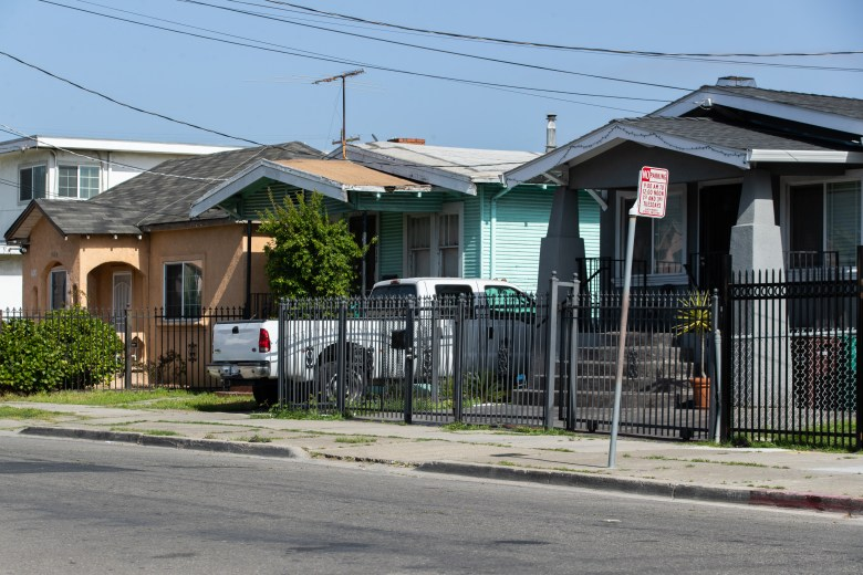 Single family homes in Deep East Oakland.