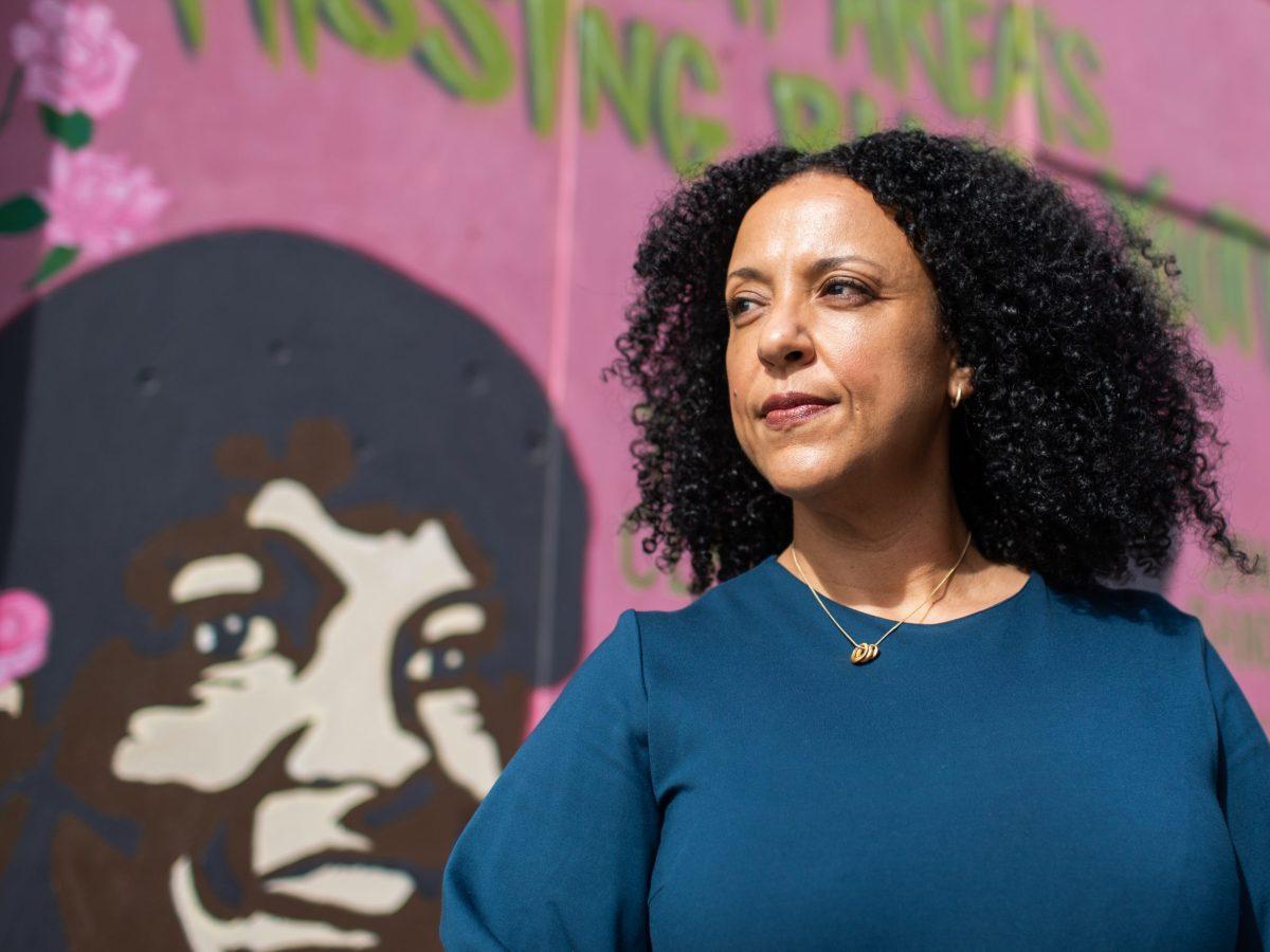 Janelle Scott poses for a portrait in Oakland, Calif.