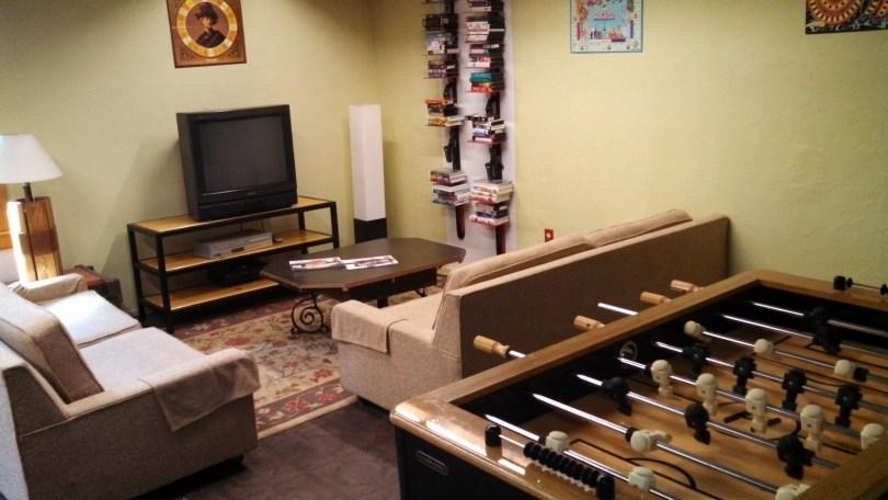 Foosball and TV