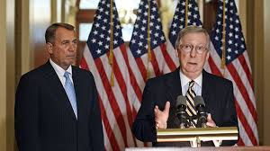John Boehner (l) and Mitch McConnell (r): Is your future safe with them?