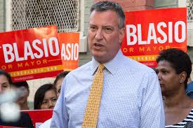 New York Mayor Bill de Blasio - a liberal Democrat