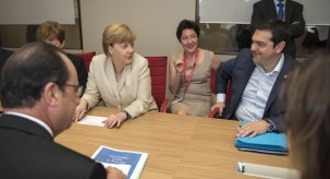 Tsipras meeting with shark-in-chief Merkel