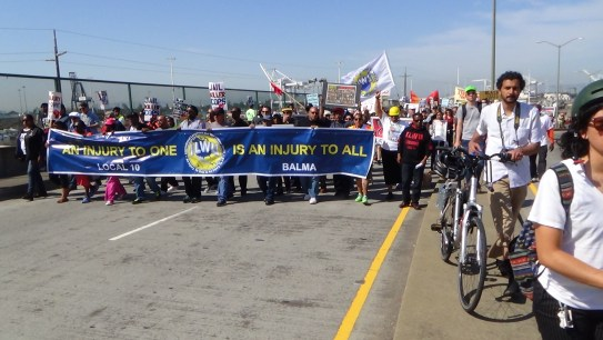 ILWU Local 10 leading May Day march in 2015