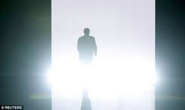 """Trump appears on stage at the Republican convention. """"I am your voice,"""" he said. """"I am the law and order candidate."""" """"I alone can fix it."""""""