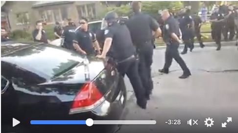 The cops retreat