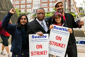 Sawant with local liberal Larry Gossett: Have her links with these local liberals force Kshama Sawant to compromise all-out opposition to all Democrats and the entire Democratic Party?