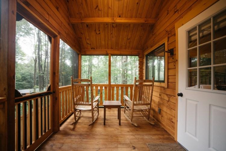 Cabin #16 Enclosed Porch