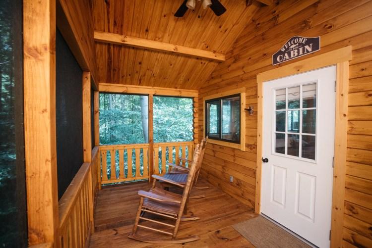 Cabin #6 Enclosed Porch