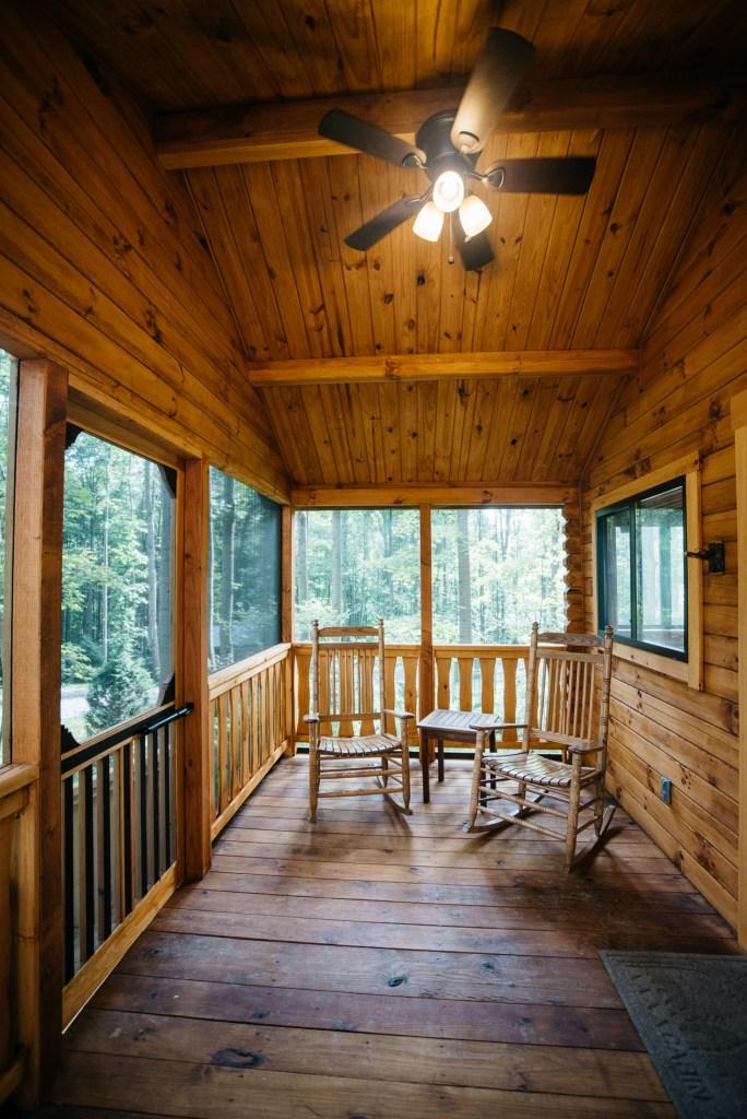 Cabin #15 Enclosed Porch
