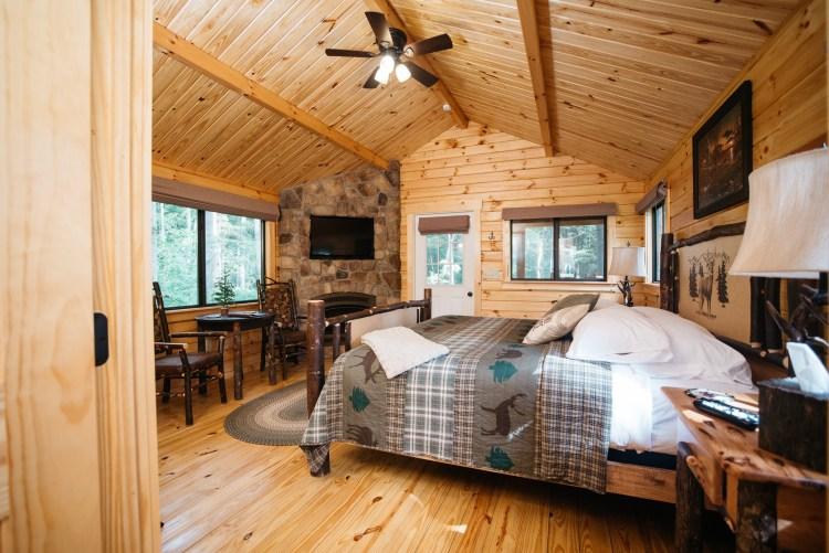 Cabin #15 Fireplace