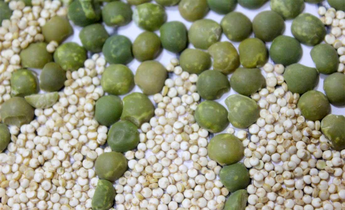 pois cassés et quinoa
