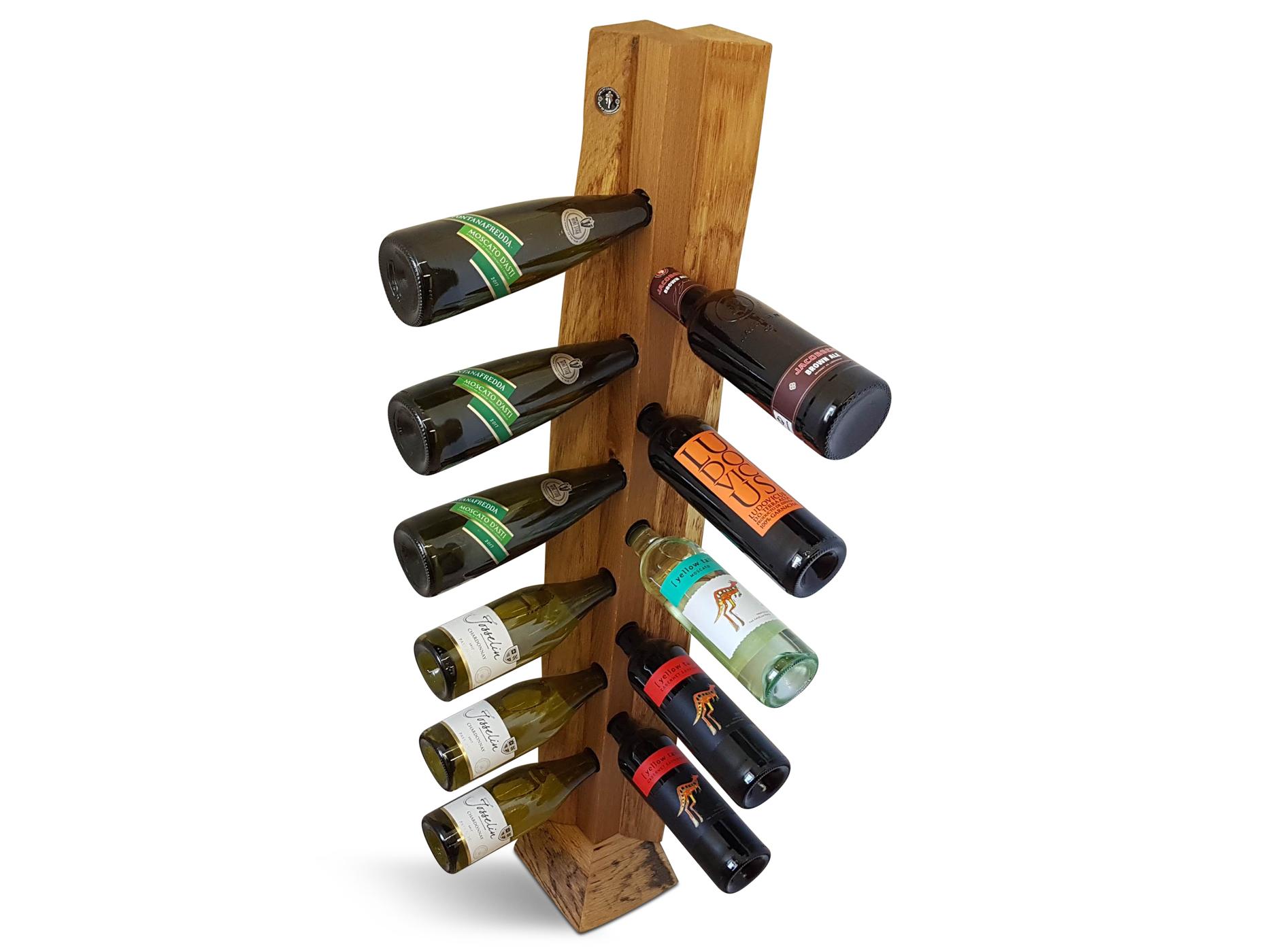 wine rack for corner oak w live edge 14 x 14 x 120 high 10158