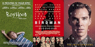 Boyhood, Birdman and The Imitation Game are all on critics' radars for top Oscars awards this year.