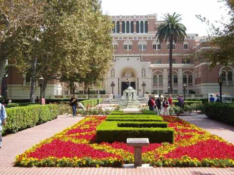The estimated tuition in 2014 for undergraduate students attending USC was $23,781 per semester, not including fees (Photo from wikipedia.org).