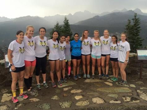 The girls cross-country team enjoys team bonding time at the Mammoth trip (Staff Photographer/Talon)..
