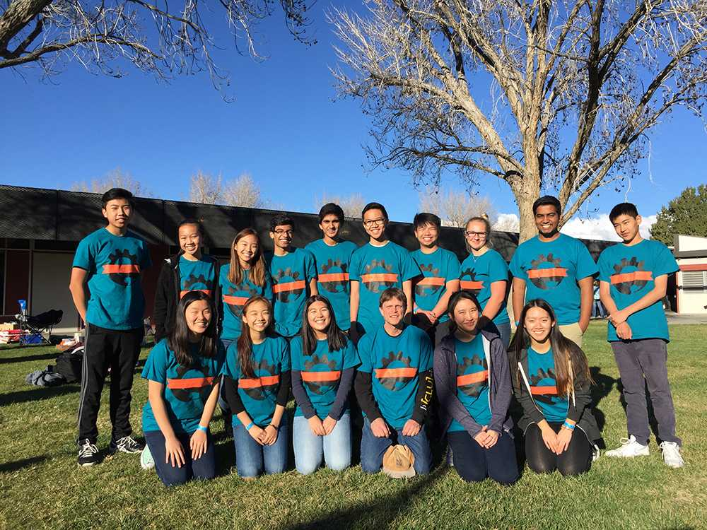 The Science Olympiad team competes at Antelope Valley College Saturday, Feb. 18. The group placed sixth out of 32 schools in the competition, with improved scores from last year (printed with permission from the Science Olympiad club).