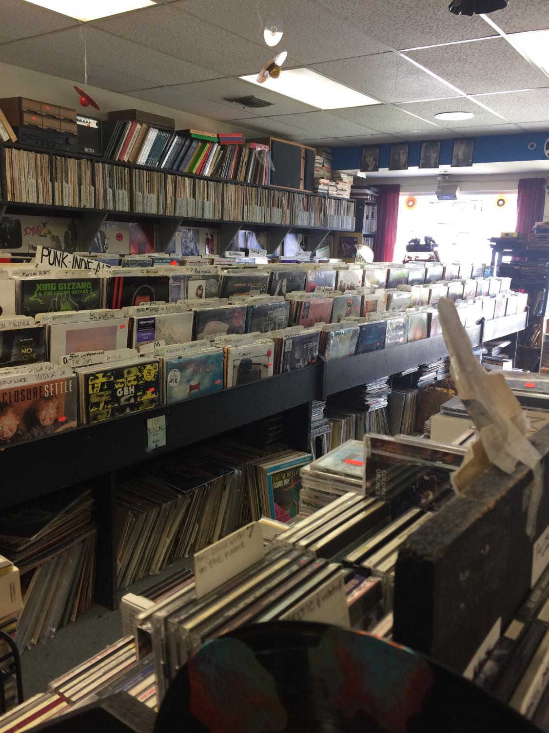 Inside of the Record Store