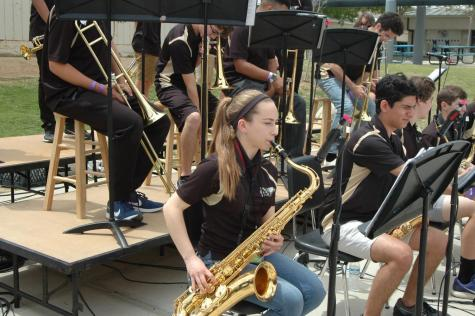 Oak Park high school students participate in the Oakchella music festival held at Medea Creek Middle School