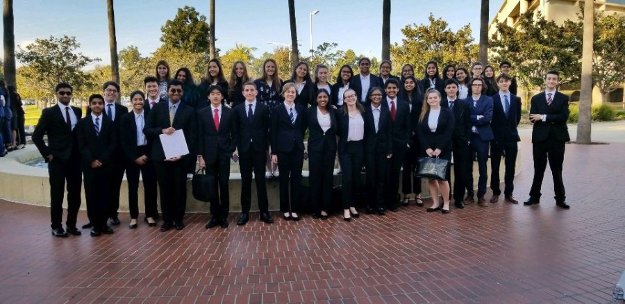 The+Mock+Trial+Gold+and+Black+teams+at+the+Ventura+County+Competition.+