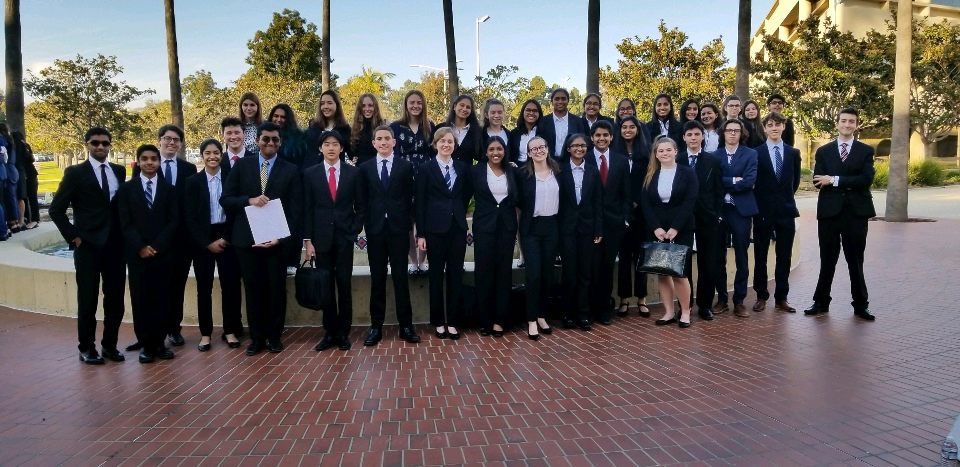 The Mock Trial Gold and Black teams at the Ventura County Competition.