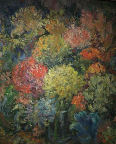 This painting by Labkovski hangs in Medved's living room. It inspired her to write this story.