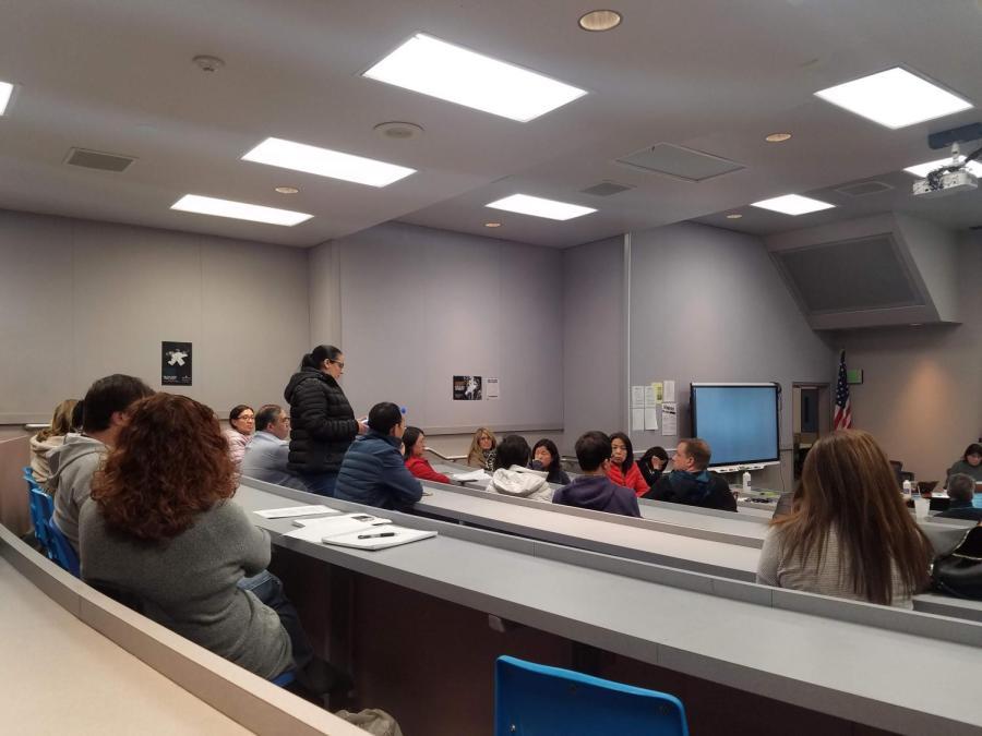 Parents speak up advocating transcript changes regarding GPA at school board meeting on Dec. 16.