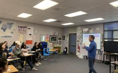 DJ Cook teaches his fifth period AP Psychology class about sensation and perception.