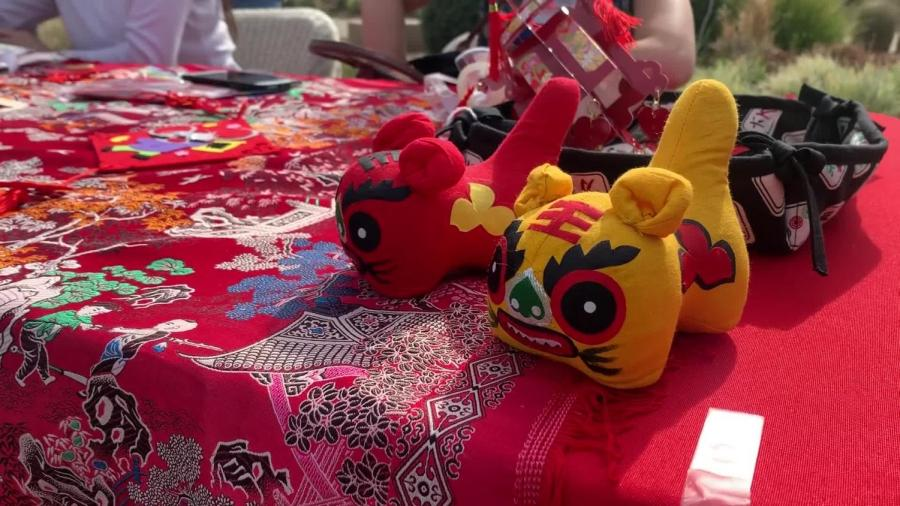 Students+celebrate+the+Chinese+New+Year+on+the+Great+Lawn.+Activities+included+traditional+food%2C+arts+and+crafts+and+a+group+dance+performed+by+Chinese+language+students.+