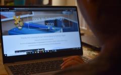 Oak Park High School parent explores the Back-to-School Night website.