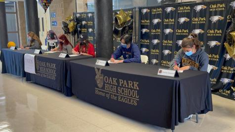 OPHS athletes sign commitment letters