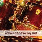 Business card for Charles Wiley, drummer