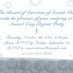 invitation design with abstract sea images