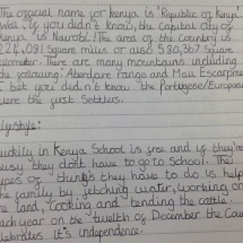 Year 6 Handwriting - 2