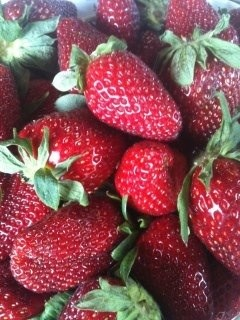 strawberries from Hayden!