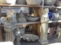 Assorted statuary...