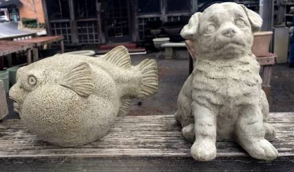 Fish and Puppy Statuary - Spring 2017
