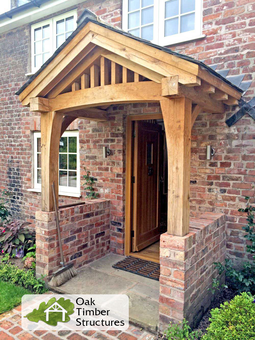 Solid Oak Porches  Oak Timber Structures