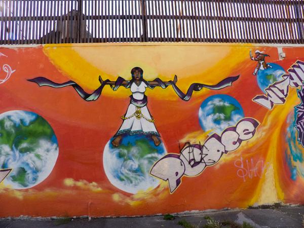 oakland mural, mural on broadway, oakland mural art, peace within mural