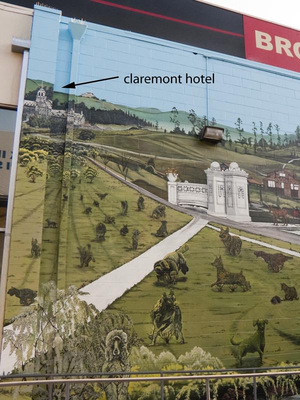 Claremont Hotel, Rockridge properties mural, stefen art