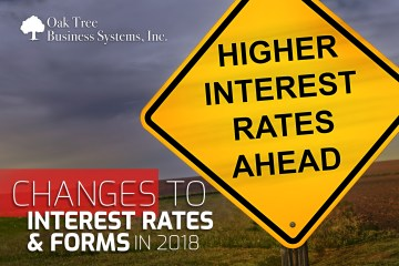 Changes to Interest Rates and Forms in 2018 for Credit Unions