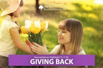 Humanitarian Highlight 9/17/20: Giving Back