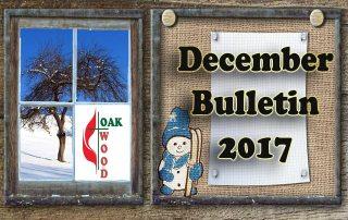 December Bulletin 2017, Upcoming Events at Oakwood UMC Lubbock Texas