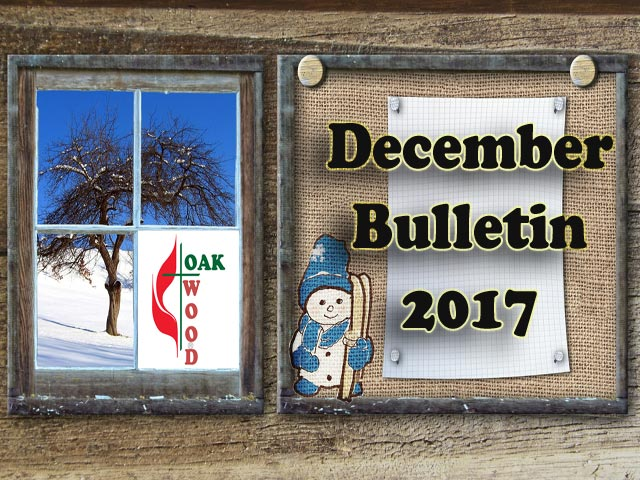 December Bulletin 2017, Upcoming Events at Oakwood UMC Lubbock Texas