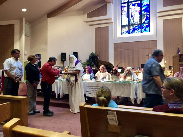 Maundy Thursday Ceremony, Holy Communion, Oakwood United Methodist Church, Lubbock Texas