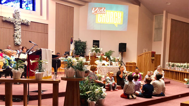 Easter Service, Kids Church Children Worship, Oakwood United Methodist Church, Lubbock Texas