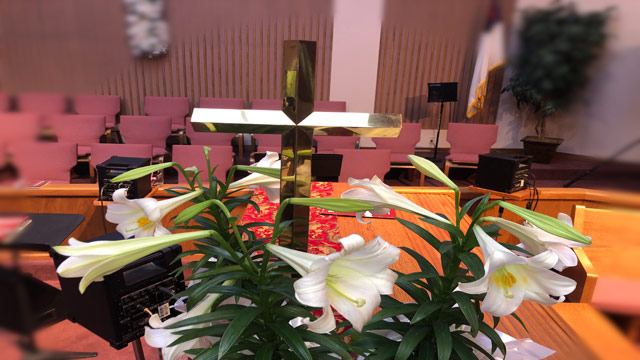 Easter Service, Lily Cross, Oakwood United Methodist Church, Lubbock Texas