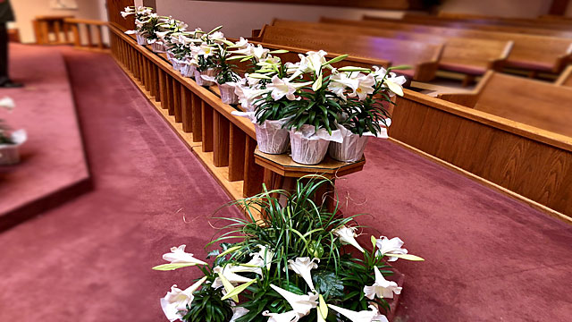 Easter Service, Lilies for Loved Ones, Oakwood United Methodist Church, Lubbock Texas