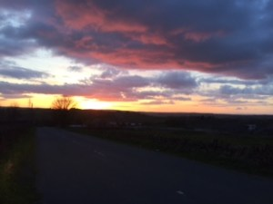 Sunset over Oakworth by Amanda Robertshaw